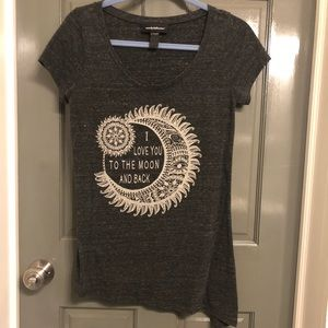 To the moon and back maternity shirt